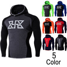 Hot Mens Workout Running Gym Fitness Yoga Sports Clothes Hooded Hoodies Fashion