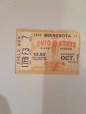 Ohio State vs Minnesota Ticket Stub 1949