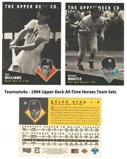 1994 Upper Deck All-Time Heroes Baseball Set ** Pick Your Team **