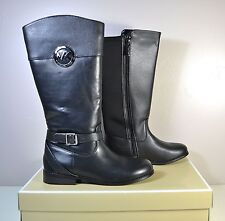 NWT GIRLS YOUTH MICHAEL KORS EMMA BLAIRE TALL BLACK BOOTS SHOES SZ 4Y 5Y