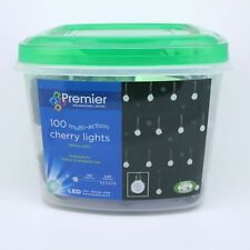 Premier Decorations 100 LED Multi Action Cherry Christmas Lights