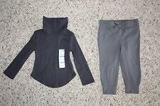 NWT Old Navy Girls Lot of 2 Gray Turtleneck & Casual Jogger Pants Size 12-18M