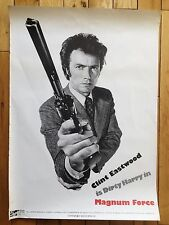 Magnum Force Clint Eastwood original vintage film movie poster Dirty Harry