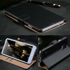 Genuine Leather Wallet Card Holder Flip Case Cover Stand For Samsung Galaxy WN