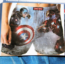 NEW Marvel Civil War Captain America Iron Man Men's Boxer Shorts Underwear L-XL