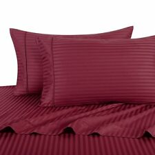 Exclusive Burgundy Hotel Collection Satin Stripe 2Pc Bedding Comforter