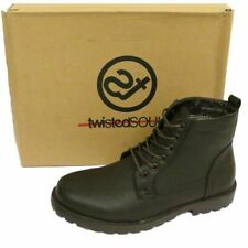 MENS BROWN LACE-UP COMBAT MILITARY ARMY ANKLE CASUAL WORK BOOTS SHOES UK 6-12