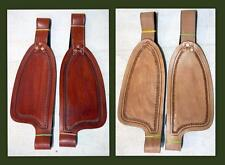 "Medium/ Tan Smooth leather Replacement Fenders for 8""  Kids Youth Small Saddle"