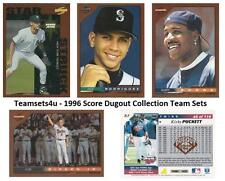 1996 Score Dugout Collection Baseball Set ** Pick Your Team **