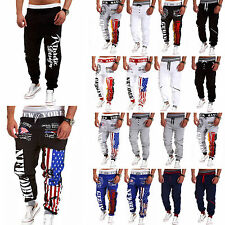 Mens Gym Sports Training Sweat Pants Tracksuit Bottoms Jogger Track Trousers