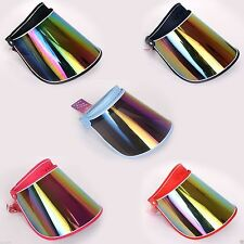 NEW SUN VISOR HAT CAP 2 TONE UV PROTECTION HIKING GOLF TENNIS OUTDOOR UV BLOCK