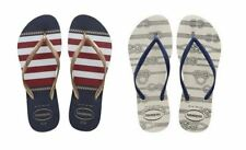 Havaianas Slim Nautical White, Blue Flip Flop Women's All Sizes