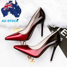 Womens Ladies High Heel Stilettos Patent Leather Pointed Toe Party Pumps Shoes