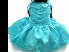 Dog Clothes S, M Party Dress Satin Blue Couture Tutu Skirt Small Dog Female New