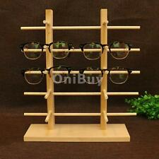 Natural Wood Sunglass Eye Glasses Display Rack Counter Stand Organizer 4 Types