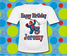 Lego Spiderman T Shirt All Sizes Lego Spiderman Birthday T Shirt