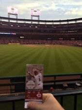 StL Cardinals vs Marlins 7/6/17 2 Tickets Sec189 Front Row Aisle Bleacher BUSCH
