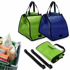 New Insulated Grab Bag Hot or Cold Reusable Grocery Shopping Bag Clip-To-Cart