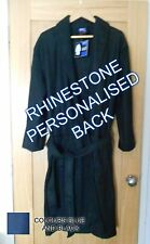 Mens Lightweight Robe/Dressing Gown, Size S/M, Rhinestone Personalised Optional