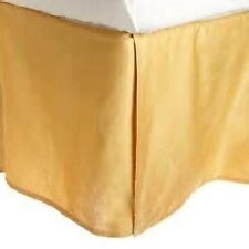 Sateen Weave Egyptian Cotton 1 Piece Bed Skirt Valance 1000 TC Gold Solid