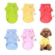 Multi-Colors Pure Cotton Pet Clothes Polo Shirt Dog Cat Clothing
