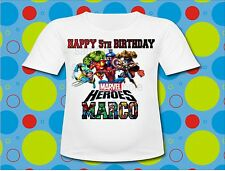 Personalized Marvel Superheros T Shirt All Sizes Hulk Spiderman T shirt