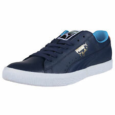 PUMA CLYDE LEATHER FS SNEAKERS MIDNIGHT NAVY GOLD POPPY HAWAIIAN OCEAN 352773 17
