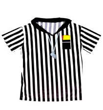 Football Fancy Dress Referee Shirt Black White Official Soccer Fifa World Cup