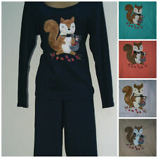 M&S Ladies Winter Long Sleeved Pyjama with Squirrel applique Size 10 - 20