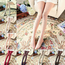 Sexy Women Vintage Flower Floral Lace Hollow Pantyhose Tights Long Socks