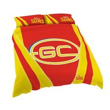 Gold Coast Suns AFL Football Quilt Doona Cover