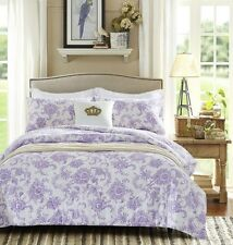 Soothing Lavender 100% Cotton Print 2/3-Piece Comforter Set,KING,QUEEN,FULL,TWIN