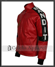 Red Smokey and The Bandit Out Mens Burt Reynolds Vintage Leather Biker Jacket