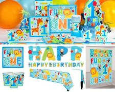 Fun to be One Animals Zoo Party Birthday Party Supplies Decorations Plates Cups