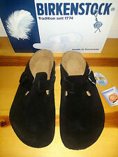 NEW Mens EUR 45 US 12 Birkenstock Boston Soft Footbed Clog Black