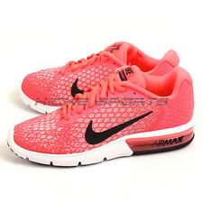 Nike Wmns Air Max Sequent 2 Hot Punch/Black-Wolf Grey 852465-600 Running Shoes