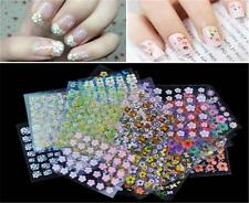 10/50Sheet Nail Art Transfer Stickers 3D Design Manicure Tip Decal Decoration HC