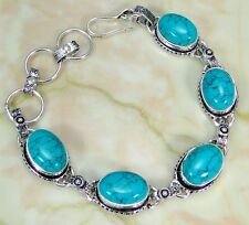Turquoise & 925 Silver Handmade Fashionable Bracelet 215mm OR-10598