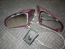 1982-92 Camaro Firebird  Side View NON  Power mirrors  PAIR Left & Right PURPLE