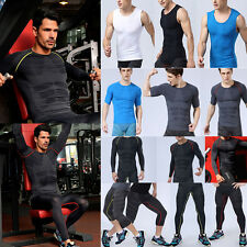 Boy Men Compression Base Layer Shirts Tops Pants Thermal Gym Running Sports Gear