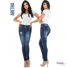 Colombian Skinny Ripped Jeans Push Up Levanta Cola Butt Lifter Pants Trousers