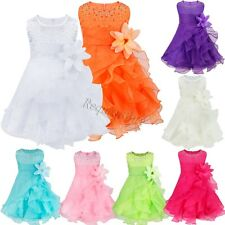 Flower Girl Princess Organza Dress Toddler Baby Wedding Fancy Party Tutu Dresses