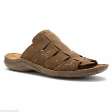 Clarks Mens Woodlake Easy Brown Suede SOFT SANDALS UK 8.5,9,9.5,10,11