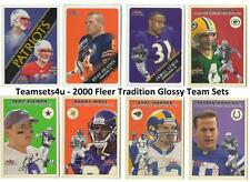2000 Fleer Tradition Glossy Football Team Sets ** Pick Your Team Set **