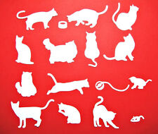 A Full Set of of Cats, Kittens Die Cuts, X-Cut. Cat/Many Poses. Any Colour/Card!