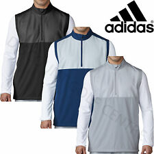 Adidas Golf 2017 Mens 1/4 Zip Competition Stretch Wind Vest Water Resistant