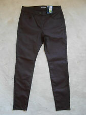 M&S Cranberry Leather Look Ankle Grazer Jegging (NEW) UK Size 12 Med