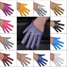 Sexy Women Faux Leather Half Five Finger Half Palm Warm Party Gloves Mittens WI