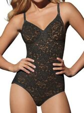NEW Womens 40B BALI Lace N Smooth Shaping Black Firm Control Body Briefer Suit