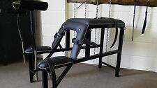 metal Tapered gynie Bench with straps bondage,fetish,kinky,50 shades